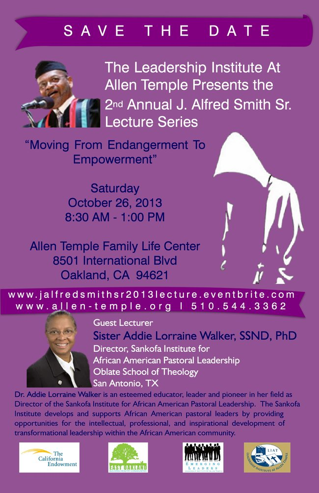2nd Annual J. Alfred Smith, Sr. Lecture Series