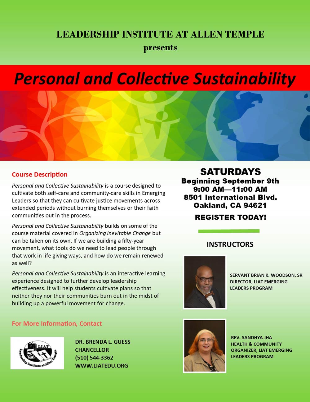 Personal and Collective Sustainability
